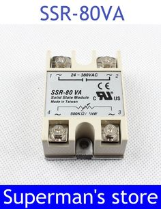 1pcs solid state relay SSR-80VA 80A 5000K ohm TO 24-380V AC SSR 80VA relay solid state Resistance Regulator #Affiliate