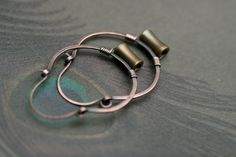 Rustic Small Solid Metals Hoops earrings n182 mixed by Tribalis