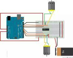 Arduino dc motor kontrolü   http://hardwarefun.com/tutorials/controlling-speed-of-dc-motors-using-arduino