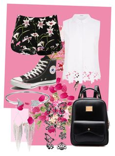 """""""Untitled #105"""" by cruffine ❤ liked on Polyvore featuring Elie Tahari, Converse, Bling Jewelry, Jules Smith and printedshorts"""