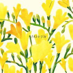 spring has come - 일러스트레이션, 파인아트 Art Paintings, Watercolor Paintings, Marimekko Wallpaper, Simple Art, Watercolor Landscape, Botanical Art, Painting Inspiration, Graphic Illustration, Illustrations