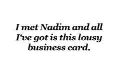 Business Card Nadim Salous / Online Konzeption / Kreativ-Konzeption / Konzepter / Konzeptioner / Texter / Creative for Digital Media / Freelancer / Awards / User Experience / Online-Marketing / Berlin / Social Media / Campaigns / E-Branding