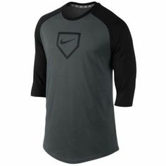 Nike Baseball DFC 3/4 BP Top V2 - Men's - Anthracite/Black
