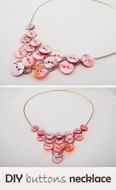Ohoh Blog - diy and crafts: How to make a button necklace