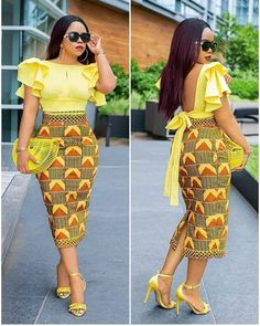 Slay in these head-turning, eye-popping ankara styles African Fashion Ankara, Latest African Fashion Dresses, African Dresses For Women, African Print Dresses, African Print Fashion, African Attire, Ankara Gowns, Ankara Dress, Fashion Models