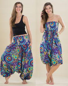 Kalhoty/šaty Aladin – purple dream