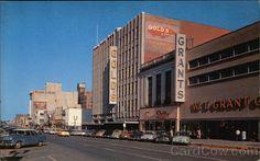 O Street, historical photo, Lincoln Nebraska, 1950's?