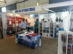 ronstan australia at wooden boat show, same Electric winch display as at METS