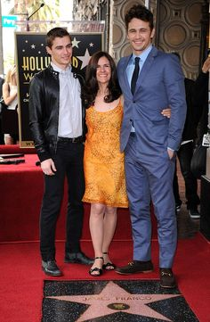 A star on Hollywood's Walk of Fame for James Franco who was joined by his mother and his younger brother Dave