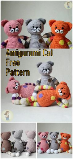 In this article we will share the amigurumi chubby cats free crochet pattern. Amigurumi related to everything you can not find and share with you. Crochet Fish, Crochet Bear, Free Crochet, Crochet Animals, Crochet Cat Pattern, Crochet Dolls Free Patterns, Crochet Basics, Stuffed Animal Patterns, Snow Men