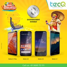 Find the onam offers in kerala at tecQ Online Showrooms near you Ad Design, Graphic Design, Product Poster, Latest Cell Phones, Nokia 2, Postcard Template, Mobile Shop, Mobile Accessories, Photoshop Design