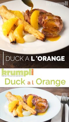 Welcome to another retro throwback recipe, Duck a l Orange may hark back to the dinner parties but it still has a relevant place on any dinner table if you Duck Recipes, Orange Recipes, Meat Recipes, Indian Food Recipes, Chicken Recipes, Healthy Recipes, Orange Sauce For Duck, Orange Sauce Recipe, Duck Breast Recipe