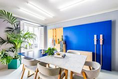 Masquespacio Interior Design VALENCIA, SPAIN 120 m2 The design from Masquespacio's workspace starts with the redesign of the design studio's brand image set up on one hand by its logotyp