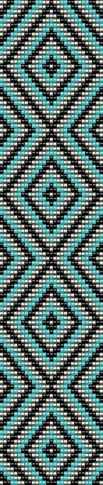 Image result for 7 Bead Wide Loom Patterns Seed