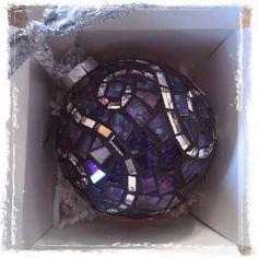 Mosaic Christmas ornament, via Flickr.