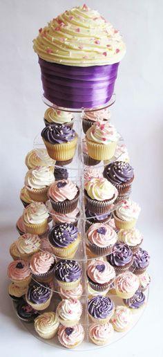 Buttercream cupcakes (purple & aqua possibly)