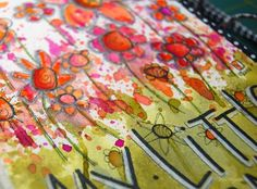 """this week, DLP  put out the call for drips and splatters  on our journal pages,  so i got busy and pulled out some """"drips and splatter"""" ..."""