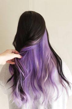 Unnatural Hair Color, Bold Hair Color, Cute Hair Colors, Hair Color Streaks, Pretty Hair Color, Hair Dye Colors, Hair Highlights, Unique Hair Color, Dyed Hair Purple
