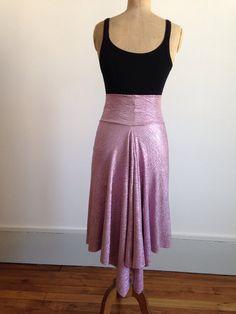 Stunning metallic pink tango skirt by BellaTango on Etsy