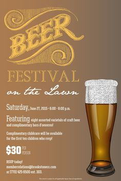 Beer Festival On The Lawn Flyer Poster Template