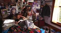 Kat Stratford's alternative, collaged walls in 10 Things I Hate About You (1999). | 18 Killer Bedrooms All '90s Teens Wish They'd Had