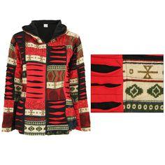 Patchwork Fleece Hooded Jacket