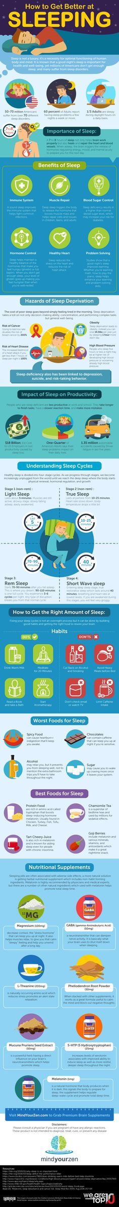 How to Get Better at Sleeping Infographic - https://elearninginfographics.com/get-better-sleeping-infographic/