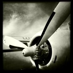 Vintage World War II Airplane Propeller Engine, Aviation, 10x10 Photograph, Vintage Airplane, Aircraft Wing, Airplane Decor. 45.00 dollars, via Etsy.