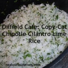 Copy Cat Chipotle Cilantro-Lime Rice!! Must try this!