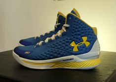 e4f11c5bb08e 2015 Limited Quantities Sneakers Steph Curry Under Armour Curry One 1 Shoes  Home Royal Blue Yellow
