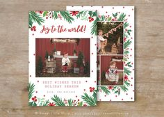 Christmas card template  Watercolor Christmas by SweetLittleMuse