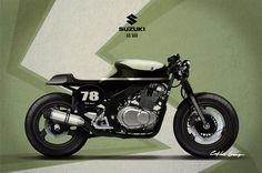 Suzuki GS 500 cafe racer design #motorcyclesdesign #diseñodemotos | caferacerpasion.com