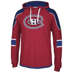 Reebok Montreal Canadiens Faceoff Edge Team Jersey Pullover Hoodie - Red