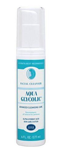 Aqua Glycolic Facial Cleanser, 6 oz