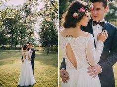 Suknie - Delikatna koronkowa suknia ślubna! - 2 700,00zł