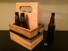 The Wooden 6 Pack: I would probably never get this done, but it's really cool!