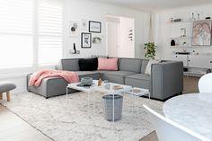 Scandinavian sweetness and calm with BoConcept Carmo sofa.