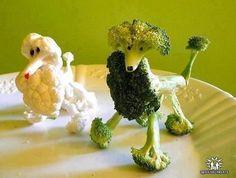 cute veggie tray display