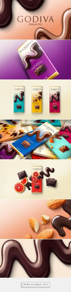 Godiva's core range of chocolate bars rebrand - Packaging of the World - Creative Package Design Gallery - http://www.packagingoftheworld.com/2016/12/godivas-core-range-of-chocolate-bars.html