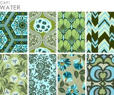 My favorite fabric collection ever.  So sad it's out of print!  Amy Butler's Nigella collection in Water.