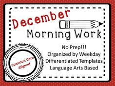 This a months worth of Morning Work for Upper Elementary! There are 25 days of activities and writing prompts total! Weekdays are themed to help students work on Common Core aligned writing & language skills. Answer keys are included when necessary.