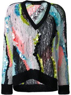 Купить Versace свободный джемпер с пайетками в Elite from the world's best independent boutiques at farfetch.com. 400 бутиков, 1 адрес. .
