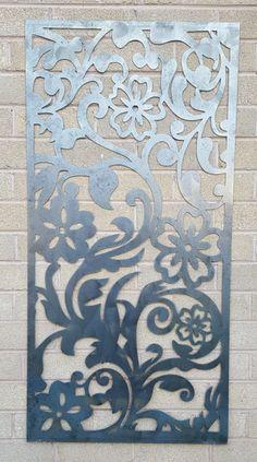Flower Vine Privacy Screen Decorative panel