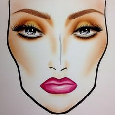 Makeup Face Chart. Wedding Look.