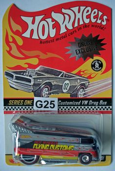 Hot Wheels Redline Club series one Flying Customs Customized VW Drag Bus