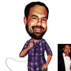 Digitally Illustrated Custom Caricature - Personalised Gift - Caricature From Your Photo