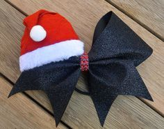 Christmas Cheer Bow Santa Claus Bow Christmas por HarloBowtique