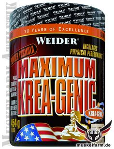 Weider Maximum Krea-Genic Pulver enthält ausschließlich reines KreaGenic Creatin, die Rezeptur ist zudem mit Calcium, Taurin und Alanin angereichert.