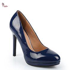 e75df306a877 Ideal Shoes - Escarpins vernis Sanda Marine 41 - Chaussures ideal shoes  ( Partner-