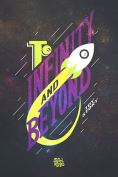 """Pixar's Toy Story """"To Infinity and Beyond"""" Print"""